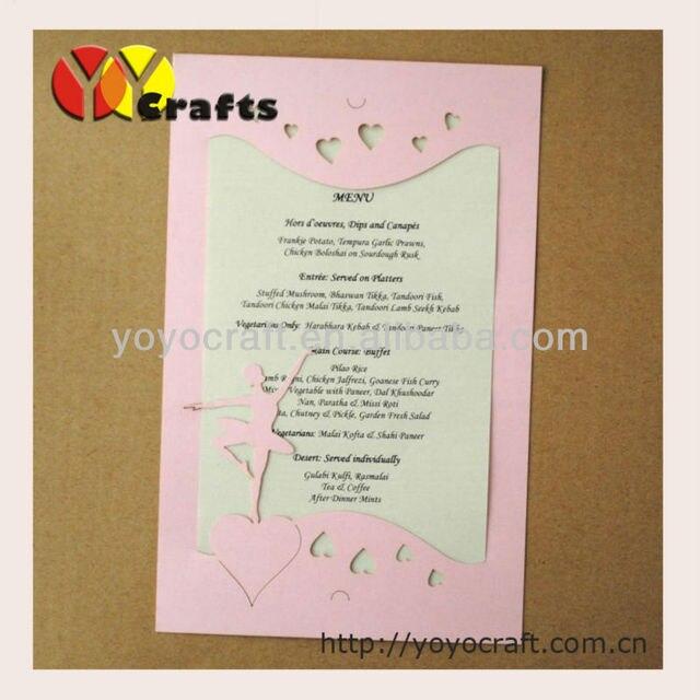 Free logo laser cut handmade paper quilling wedding invitation cards