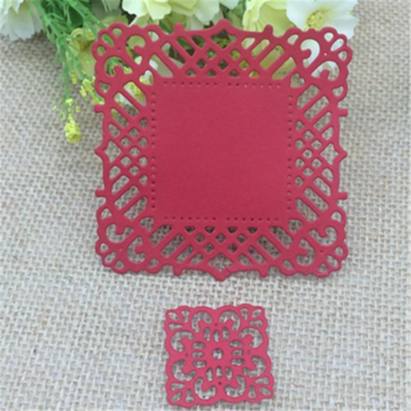 2 stücke Blume bilderrahmen quadratischen Metall Stanzformen ...