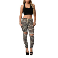 Camouflage Fashion Women Jeans Mid Waist Skinny Pencil Pants 2017 Leggings Army Green Jeans Pants Woman