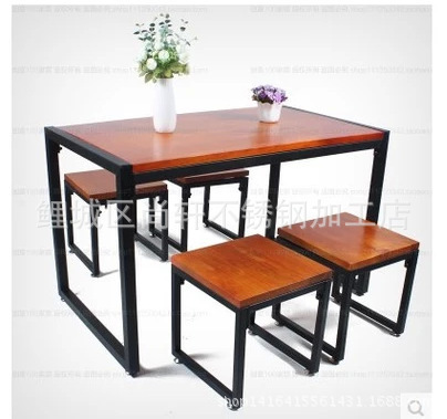 Factory Direct American Country Combination Square Chair Long Table And Chairs Coffee Ideas