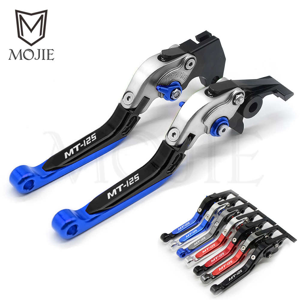 For YAMAHA MT125 MT-125 MT 125 2014-2018 Motorcycle CNC Aluminum Adjustable Folding Extenable Brake Clutch Levers MT125 Lever bathtub faucets antique brass bath rain shower faucet head and handheld shower faucet 2 handel bathroom wall mounted tap lj10119