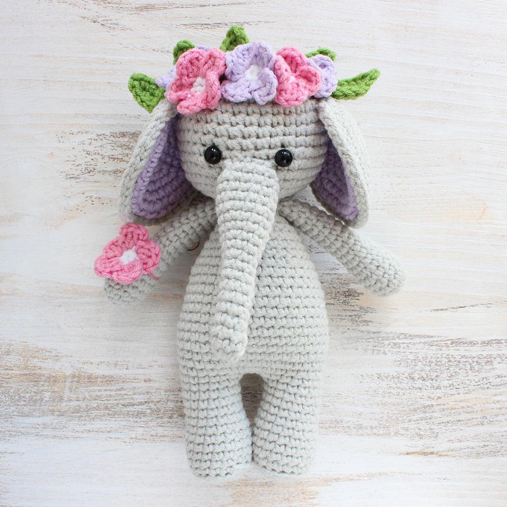 Crochet Toys  Amigurumi Cute Flower Elephant