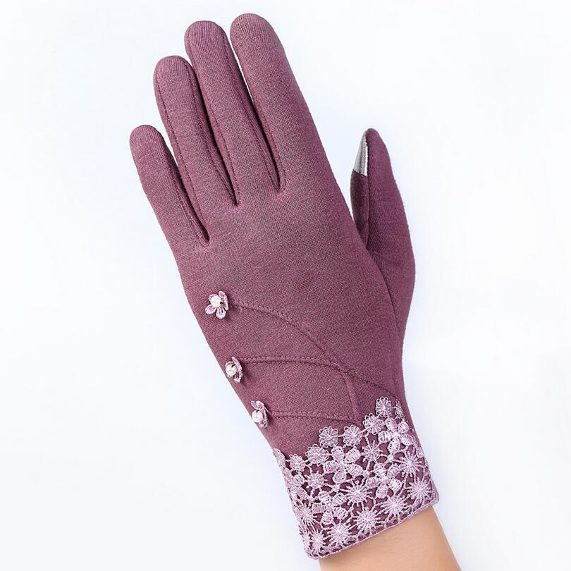 New Style Female Cotton Women Gloves Ladies Winter Mittens ...