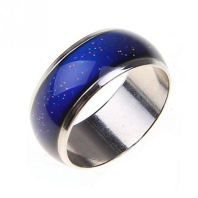 2018 Silver Tone Color Changing Mood Rings Temperature Emotion Feeling Rings For