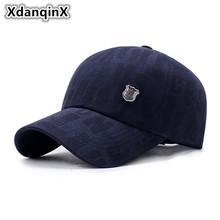 XdanqinX Mens Cotton Baseball Caps Adjustable Size Simple Personality Dads Hat Snapback Male Bone High Quality Brand Cap Adult