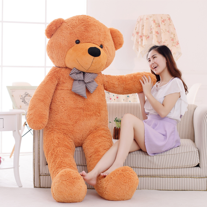 1pc 200cm Classic Selling Toy Big Size Teddy Bear Skin ,Teddy Bear Coat ,Good Quality Factary Price Soft Toys For Girls 1pc big size 200cm american giant bear skin soft animal teddy bear coat good quality plush toys for girls valentine gift doll