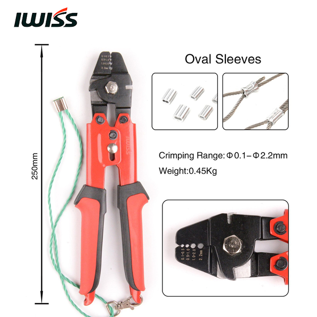 IWISS WXS 711 Wire Rope Crimping Tool with Cutting Function and ...