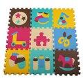 Promoção 9 pcs por definir a qualidade Dos Desenhos Animados de EVA Esteira Do Assoalho Do Carro Subida do bebê Cobertor Jogo Tapete Tapete Engatinhando Tapete Puzzle de Espuma Eva