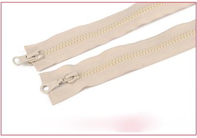 Alipress 5#90 см двойные ползунки смолы застежки-молнии для шитья спальный мешок для палаток Пальто Аксессуары 3 шт - Цвет: beige