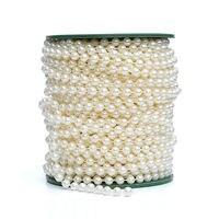 2017 Limitata Casamento Trasporto Libero! 6mm Perla Perline Ghirlande Catena 25 Metri Decorazione di Cerimonia Nuziale Decorativa Lampadario Centrotavola