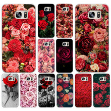 25DF Beautiful Garden Red Roses Flowers Hard Cover Case for Samsung Galaxy S4 S5 Mini S6 S6 S8 S9 edge plus S7 Edge(China)