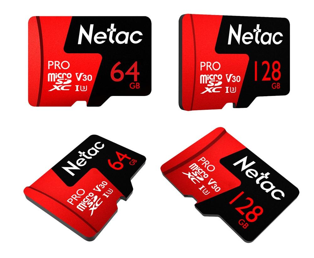 Netac Class 10 32GB 64GB 256 GB Micro SD Card 16GB 128GB 32 64 GB TF Card Data Storage Flash Memory Card For Smartphone Phone 8