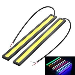 1X 17 см COB автомобильный дневный ходовой светильник, Светодиодная лента DRL, светильник, внешний водонепроницаемый автомобильный светильник, ...