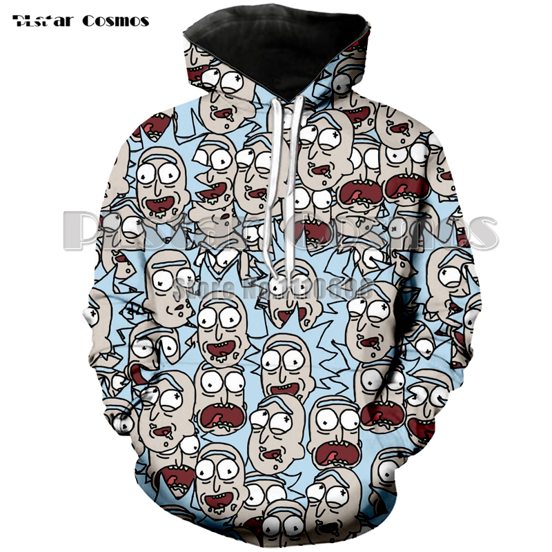 Newest style Cartoon Rick and Morty Hoodies Men Women Autumn thin coat Tops  Pullovers 3D Anime Sweatshirt Dropship Tracksuit