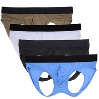 Nightaste Male Underwear Hollow Out Hip Buttock Athletic Supporter JockStrap Thong