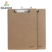 Glosen a4 나무 책상 카드 노트북 서류 쓰기 파일 매트 그리기 폴더 버터 클립 보드 클립 보드 학교 사무용품