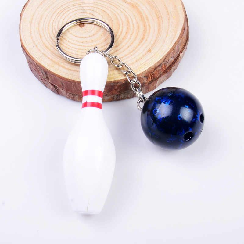 1 قطعة البولينج ميدالية مفاتيح معدنية سيارة حلقة رئيسية الرياضة الساخن بيع كيرينغ قلادة المرأة للرجل هدية الديكور الحرف المعدنية بلدي 001