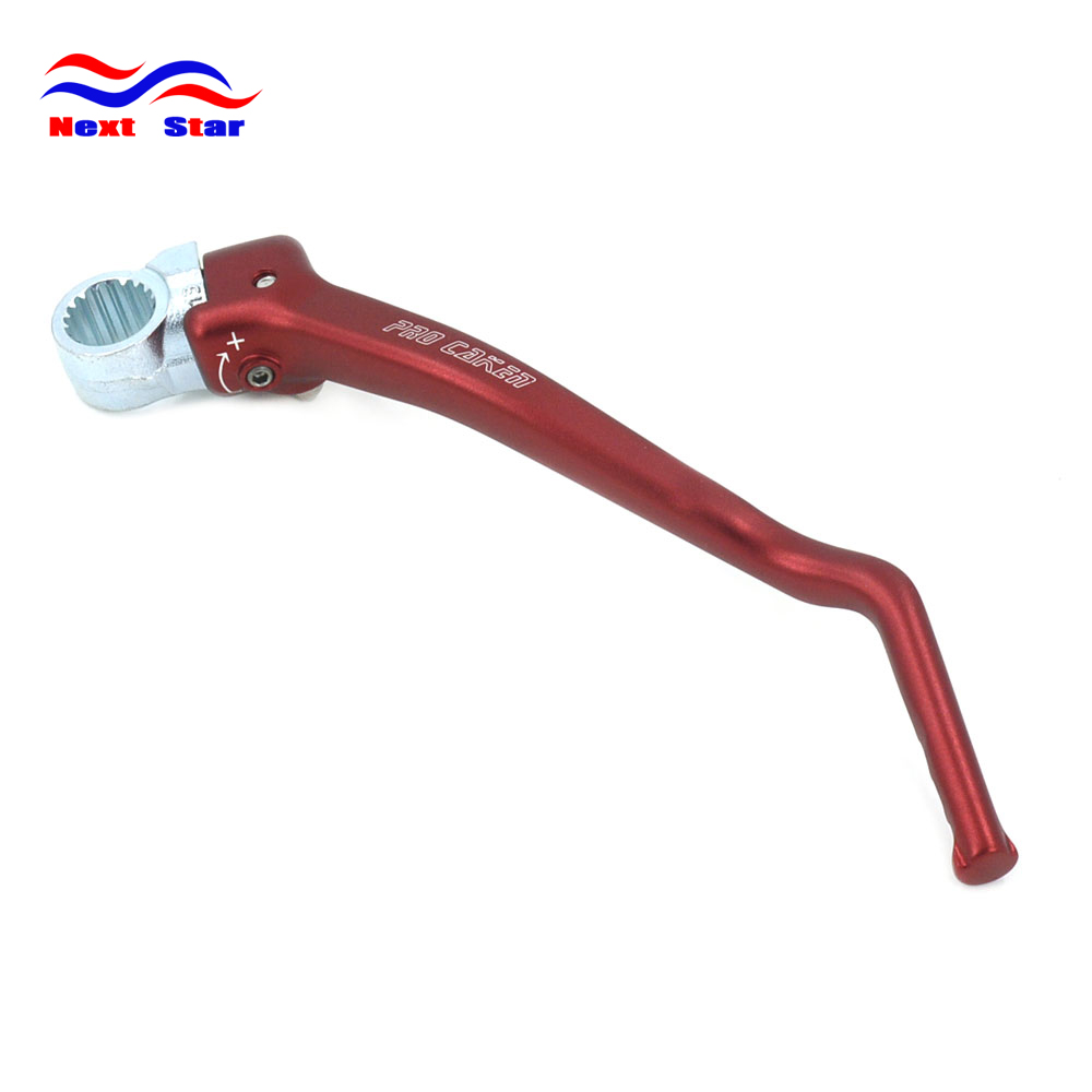 CNC Aluminum Forged Kick Start Starter Lever Pedal Arm For HONDA CRF150R CRF150 R CRF 150R 2007 2008-2017 Motocross Dirt Bike red rubber gripper soft seat cover for honda crf150r crf 150r 2006 2016 2017 motorcycle motocross enduro dirt bike off road