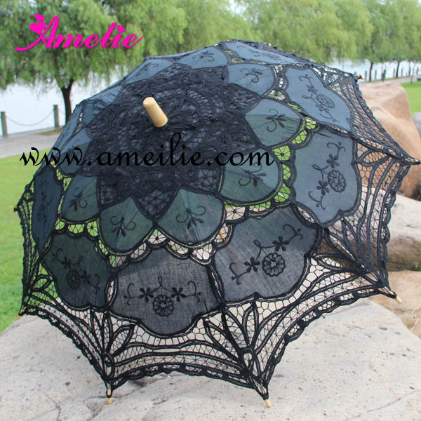 200Pcs Lot Wholesaler Factory Sell Handicraft Cotton Lace Wedding Umbrella Party Umbrella