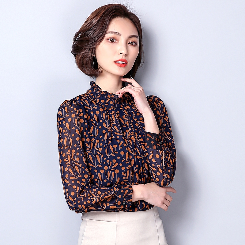 9adb2901d00 Для женщин одноцветное печати Chiffion блузка рубашка 2018 сезон  весна–лето  новые модные женские