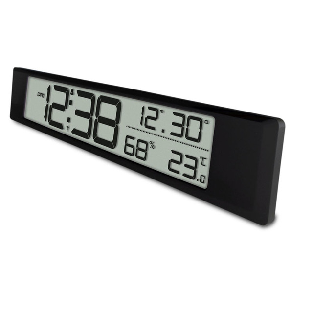 Digital Electronic Alarm Clock Temperature And Humidity Display Wall Decoration European Battery Date Indoor