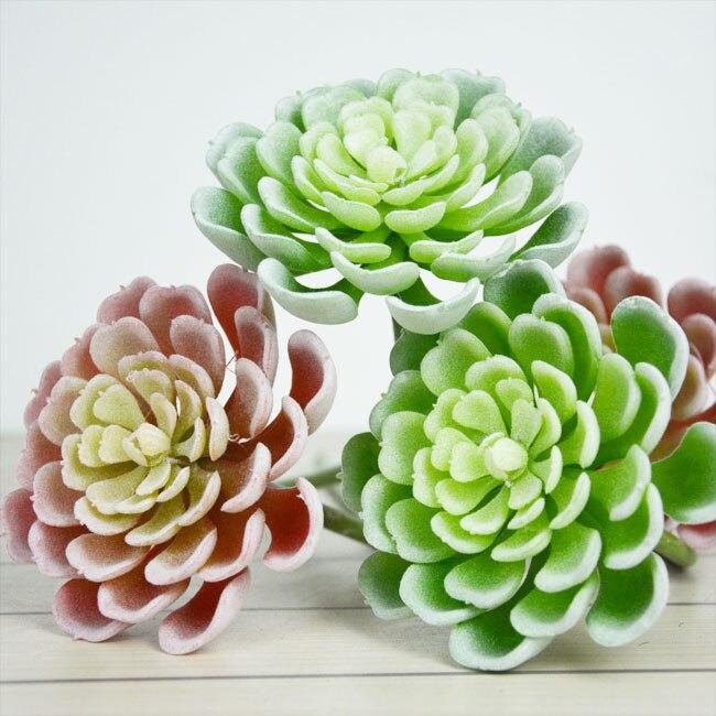 3pcs Home Decoration Artificial Succulents Flower Garden Decorative Grass Plants DIY Free Shipping