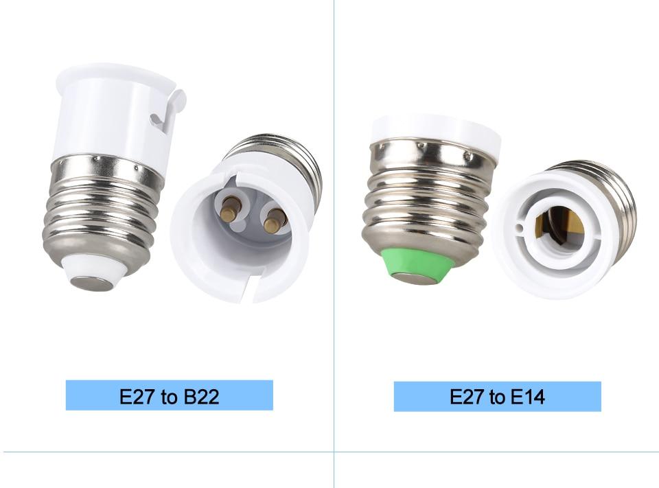 lamp holder base E27 to E14 B22 (5)