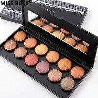 Livraison gratuite MLLE ROSE 12 couleurs professionnel pressée mat cuisson poudre fard à paupières cuit ombre à paupières maquillage palette shimmer ensemble