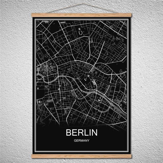 Us Map Picture Frame.With Frame Berlin Abstract Print Picture World Map Oil Painting