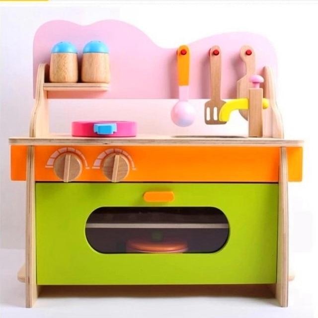 Madera Cocina cabaña Para Niños juguetes de cocina conjunto 3C ...