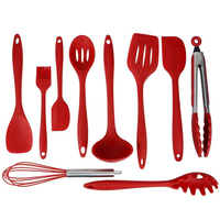 10 Pcs/Set Silicone Kitchen Cooking Utensils Heat Resistant Insulation Baking Tools