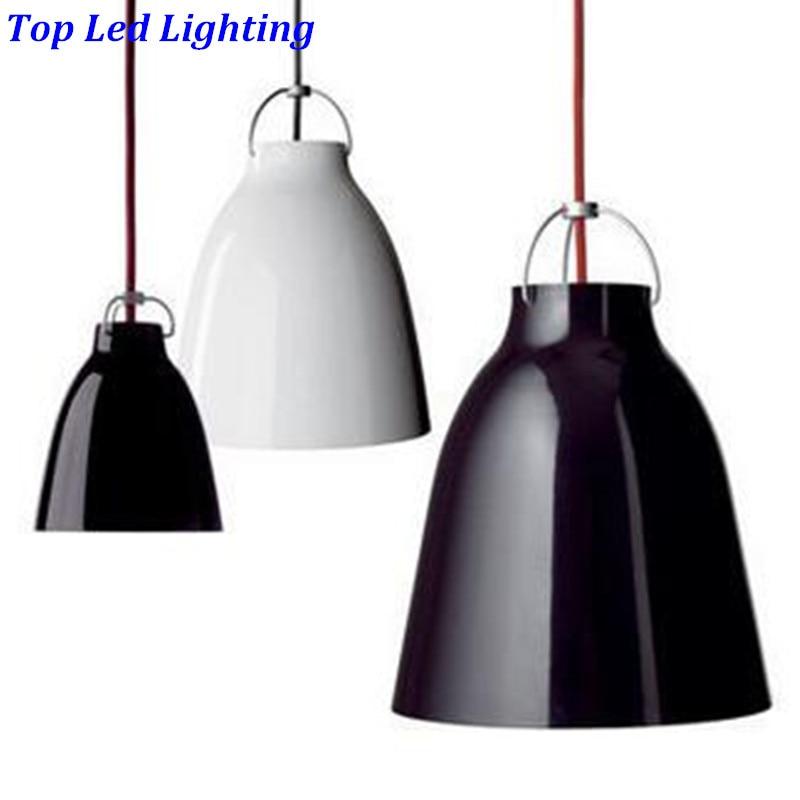 Creative Denmark Caravaggio Aluminum Pendant Light for Restaurant Dining Room Led E27 Dia 20/25/40cm Suspension Lamp 1218