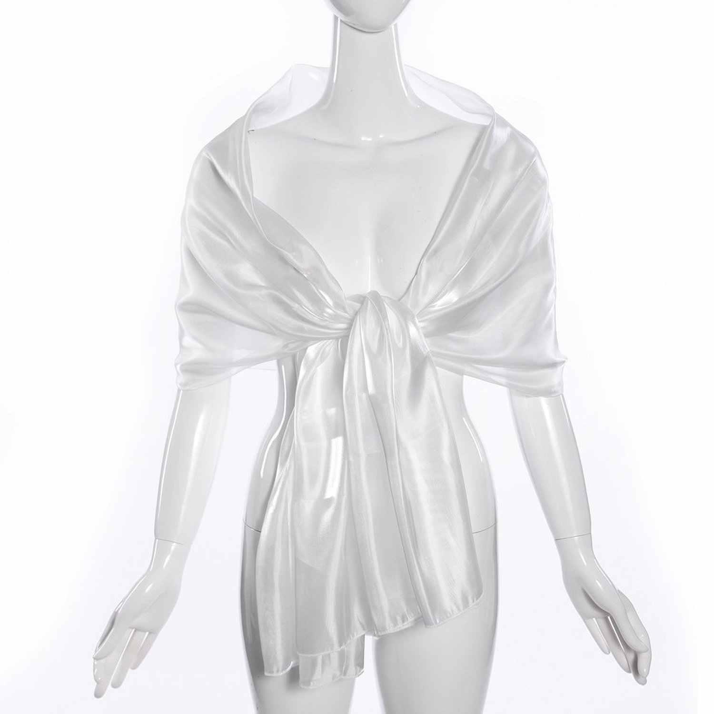2c73c64c8b4 Scarf silk woman shawl long silk scarf for evening wedding white