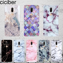 ciciber Colored Marble Cover For Oneplus 7 Pro 6 6T 5 5T Phone Cases 1+ T Funda Coque Capa Shell Soft Silicone TPU