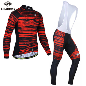 Siilenyond 2019 Winter Thermal Pro Cycling Jersey Sets Keep Warm MTB Bicycle Cycling Clothing Mountain Bike Cycling Clothes Suit 1