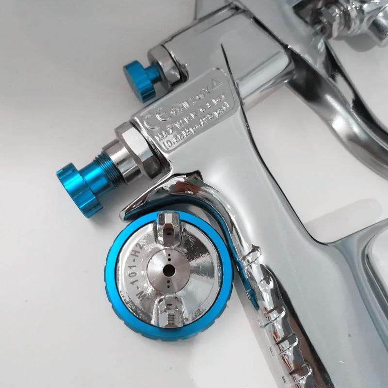 Image 3 - Genuine qr cod W 101 Spray Gun 134G  w101 HVLP Manual Paint spray Gun Gravity  1.0/1.3/1.5/1.8mm  Furniture Car Coating Painting-in Spray Guns from Tools