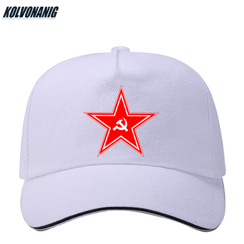 KOLVONANIG 2019 Ussr CCCP Print Baseball Cap Soviet Commemorate Truck Cap Russian CCCP Hats For Men amp Women Cotton Vintage Caps in Men 39 s Baseball Caps from Apparel Accessories