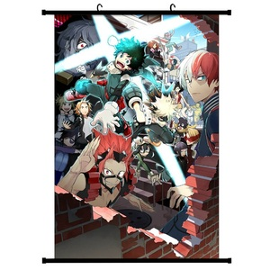 Japan Anime Boku No Hero Academia Canvas Scroll Painting Home Decoration Wall Picture Poster(China)