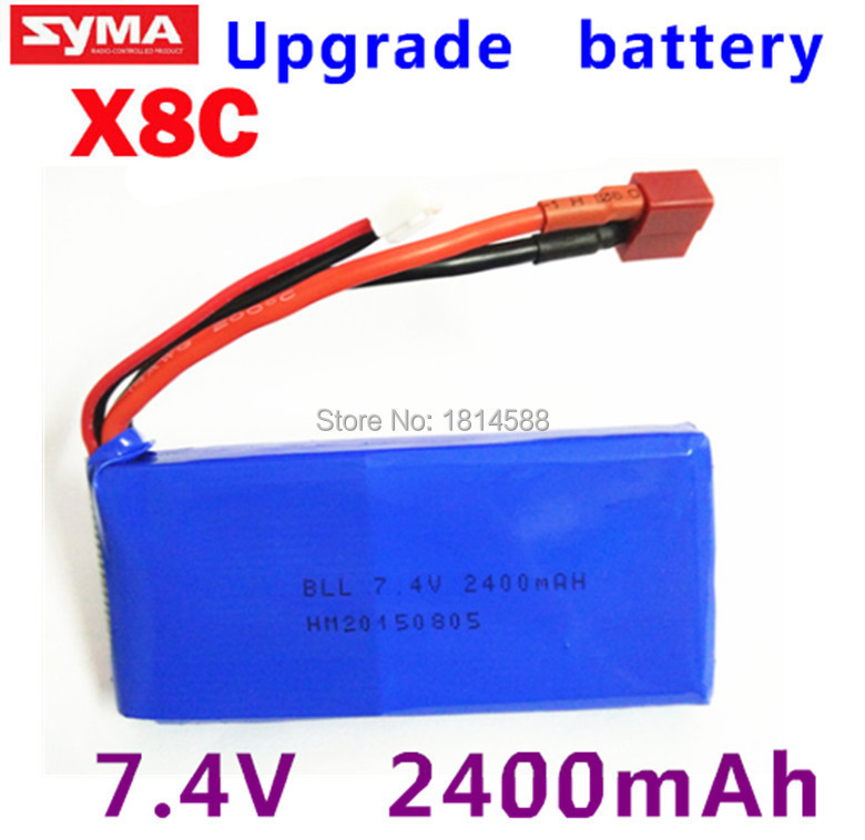 Wholesale rc helicopter parts Upgrade Syma X8C X8W Spare Part 7.4V 2400Mah 25C Battery chamsgend best seller free shipping new full set replacement spare parts for syma s107 rc helicopter red mar11 wholesale