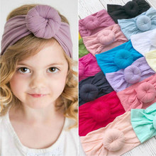 New Donuts Baby Hair Band Round Bun Head Wrap Soft Turban For Infant Head Wrap Headband Dropshipping(China)