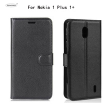 цена на HUDOSSEN For Nokia 1 Plus Nokia 1+ Case Luxury PU Leather Back Cover For Nokia 1 Plus TA-1130 TA-1111 TA-1123 TA-1131 Phone Case