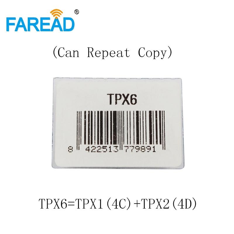 X5pcs TPX6 Transponder Car Key Chip = TPX1 ( 4C ) + TPX2 ( 4D ) Ceramic Carbon  ( Can Repeat Copy ) Blank Chip
