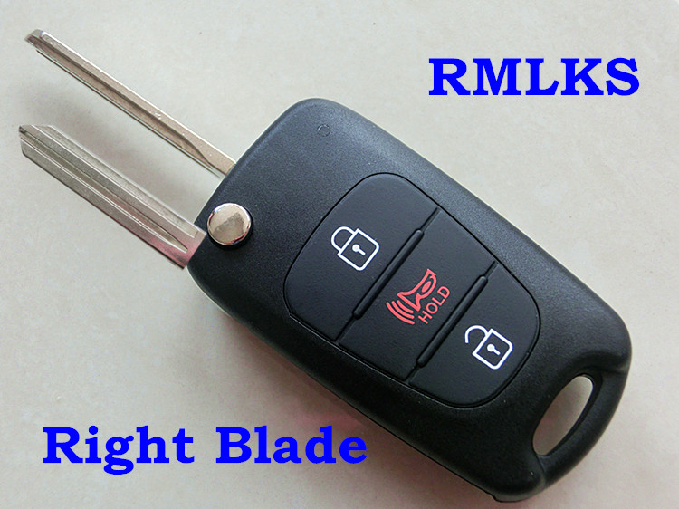 RMLKS Car Key Shell Replacement Fit For Hyundai Elantra