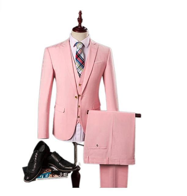Nuevo Novio Esmoquin Mens Trajes Traje de Boda de Baile 3 Unidades para Hombres Mejor Hombre Esmoquin Slim Fit Volver Vent Para Hombre trajes