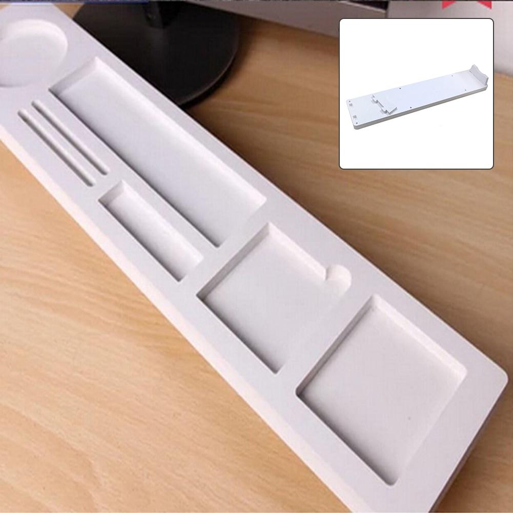 Creativa Multi-función de la computadora de escritorio, accesorios de escritorio de madera útil teclado estante rack de almacenamiento