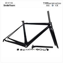 SmileTeam New Design T1000 Full Carbon Road Bike Frame Di2 and Mechanical Carbon Road Bicycle Frameset Super Light only 800g