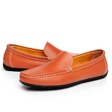 Junjarm 2017 hombres planos Zapatos calidad split cuero hombres Mocasines negro sólido resbalón-en los hombres al aire libre conducción Zapatos