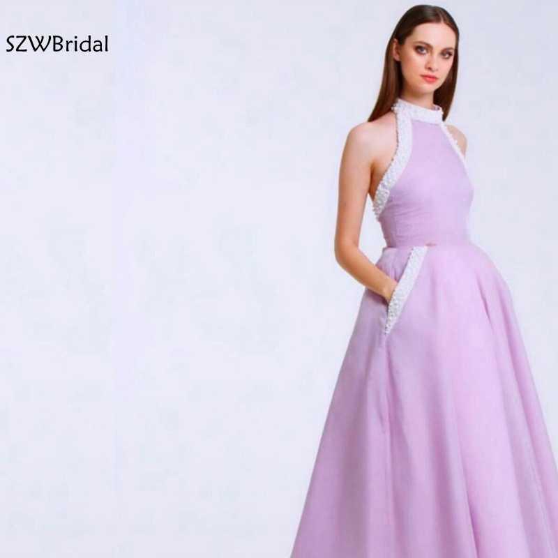 新着ハイネックアラビアイブニングドレス 2020 イスラム教徒イブニングドレスパーティーイブニングドレス vestido ロンゴフェスタ
