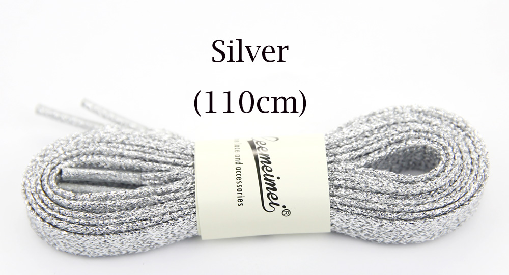 Shop For Cheap 3pairs Metallic Gold Thread Shoelaces Round Rope Laces For Outdoor Climbing Casual Trainer Laces Sport Golden Silver Black 110cm Beautiful And Charming Shoe Accessories