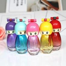 5 sztuk/partia 20ml puste szklane butelki perfum lalki projekt śliczne dziewczyny perfumy butelki Atomizer kosmetyczne wielokrotnego napełniania podróży butelki sprayu